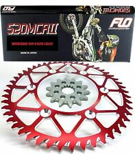 Sprocket Set / Chain Combo Kit Gold Motocross Dirtbike Red CRF250 CR125 14T/ 48T