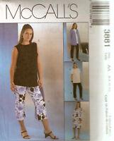 Misses McCalls Pattern 3881 Maternity  Jacket Dress Top Pants 6 8 10 12 UNCUT