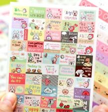 FD1610 Cute Rabbit Sticker DIY Decor Stationery Reward Stickers ~Random~ 1 Sheet
