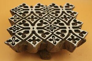 Old vintage heena print making textile design wooden block