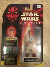 """De colección Guerra de las galaxias Comm hablar Obi Wan Kenobi Azul Sabre episodio 1. 3.75"""" figura."""
