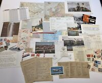 60+ Junk Journal Ephemera Pack All Original 1930's-70 International Travel  #3