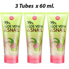 3 x 60ml Cathy Doll 99% Aloe Vera And Snail Serum Soothing Gel Moisturizing Skin
