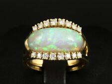 Schöner Opal Brillant Ring ca. 7,40ct   750/- Gelbgold