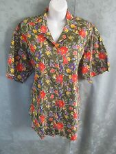 90's Lizsport Blouse Size Large Floral Revival Grunge