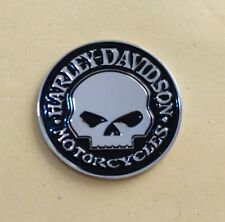 3D Metal Skull  Emblem / Medallion For Harley Davidson Tank / Body / Fender