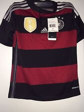 NEW WT Adidas German Soccer FIFA Kid's Small Jersey Black/White/Red