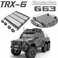 Metall Dachgepäckträger mit LED Licht Set für TRAXXAS TRX-6 Benz 6X6 G63 RC Auto