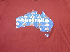 Australia Flag Map T-Shirt Day Aussie Australian Tee   Large  Y4