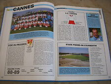 FOOTBALL COUPURE LIVRE PHOTO MRBT11 20x10 D1 AS CANNES 1988/1989