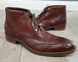 COLE HAAN Liam C11053 brown leather chukka wingtip ankle boots 8.5M