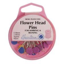 Cabeza de flor Dobladillo Pins-níquel (60 un.)