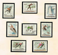 Hungary Winter Sport Airmail stamps set 1955
