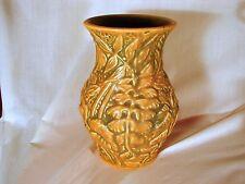 Old Weller Marvo 8in Vase, Orange/Brown Glazed, Excellent Condition, ca 1920s