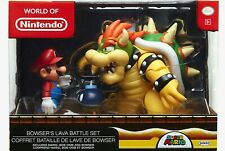 WORLD OF NINTENDO BOWSERS LAVA BATTLE SET - Mario, Bowser, Bob-Omb - JAKKS