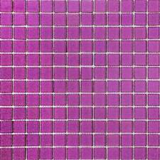Purple Glitter Glass Mosaic Wall Tiles Bathroom Shower Basin Splashback MT0069