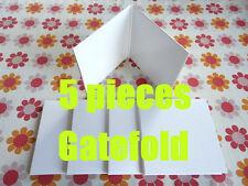 5 pieces WHITE JACKET (GATEFOLD COVER)  Japan MINI LP CD