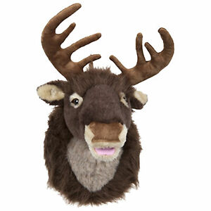 Singing Reindeer Head 40cm - with Moving Mouth - Christmas Novelty Decoration