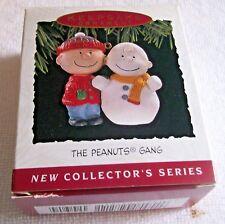Hallmark 1993 The Peanut Gang Charlie Brown Snowman Xmas Ornament 1St In Series