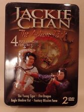 JACKIE CHAN, THE ACTION PACK TIN, 4 FULL LENGTH FEATURE FILMS, YOUNG TIGER, FIRE