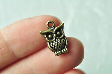 20pcs Antique Bronze Owl Charm Pendant Handmade Necklace Craft Accessory Jewelry