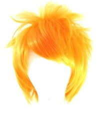 13'' Spiky Short Orange Sherbert Synthetic Cosplay Wig NEW