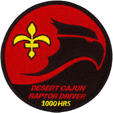 USAF 706th FIGHTER SQUADRON F-22 PILOT 1000 HOURS PATCH
