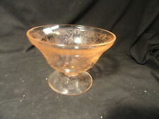 Pink Florentine Depression Glass Candy Bottom Mint NO LID