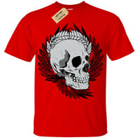 Kids Boys Girls Skull biker punk metal goth rock alternative cool T-Shirt