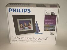 """NEW PHILIPS 7"""" Home Essentials LCD Panel DIGITAL PHOTO FRAME Brown SPF3407D/G7"""
