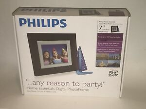 "Nuovo Philips 7 "" Casa Essentials LCD Pannello Digital Photo Frame Brown"