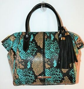 NWT Brahmin Bird Of Paradise Frontera Leather Mini Camila Tote Bag Purse $335