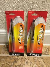 Pilot Dr Grip Center Of Gravity Lot 2 Ballpoint Pens Click Pen 1.0mm Point Med