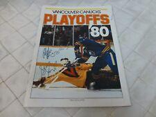 Vancouver Canucks 1980 Playoffs Magazine SIGNED Gary Lupul Stan Smyl Program