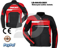 DUCATI MOTOGP MOTORCYCLE MOTORBIKE COWHIDE LEATHER RACING BIKERS JACKET