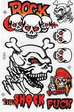"D58 SKULL Dead Pirate Racing Tuning Sticker Decal 1 Sheet 10,5""x7"" / 27x18 cm"