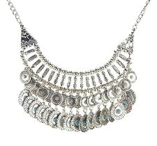 Cadena Plata Turquesa by Ella Jonte IBIZA Etno Estilo New Collection collar NEW