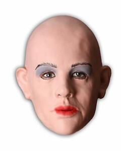 Realistische Frauen Maske Diva Latexmaske  Frauengesicht Fasching Karneval