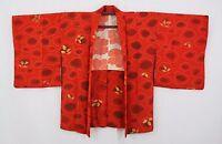 羽織 Haori japonés - Chaqueta japonesa - Rojo Naranja y Cartera 1458