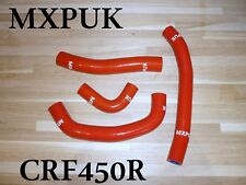 CRF450 2018 SILICONE HOSE KIT IN RED MXPUK CRF 450 SILCONE HOSE RAD HOSES  (452)