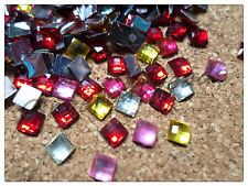 500 x Resin Rhinestones - Square - 4mm - Mixed Colour
