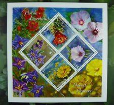 La Romania Romania 2014 FIORI FLOWERS plants Blossom blocco nel folder edizione 300