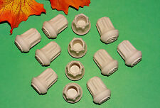 "(12) NEW 1/2"" WHITE RUBBER CANE TIPS FOR WALKERS, CRUTCHES, WALKING STICKS, ETC."