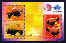 Singapore 2009 Zodiac Year of the Ox - China Stamps Exhibition Mini-Sheet Mint