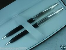 Cross Century II Sterling Silver & Black  Pen pencil