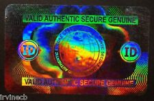 Hologram Overlays Secure Globe Overlay Inkjet Teslin ID Cards - Lot of 5