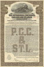 The Pittsburgh Cincinnati Chicago and St. Louis Railroad bond certificate share