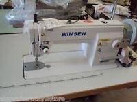 WIMSEW LARGE COMPACITY BOBBIN LOCKSTITCH SEWING MACHINE COMPLETE 230v