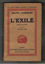 L'EXILE SELMA LAGERLOF  roman suedois 1933   suede sweden