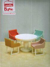 Lundby 60.3067 Smaland Basic Esszimmer Set - Tisch Stuhl Puppenhaus 1:18